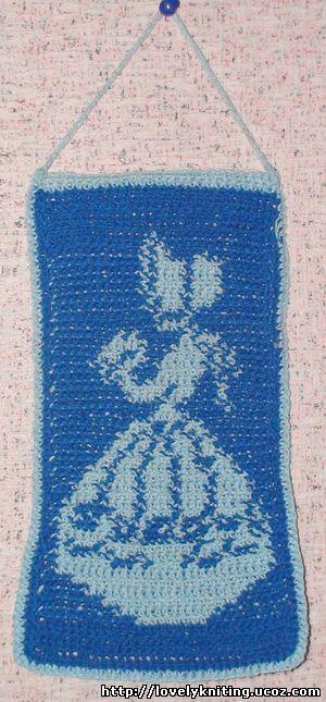 """Схема для вязания панно """""""
